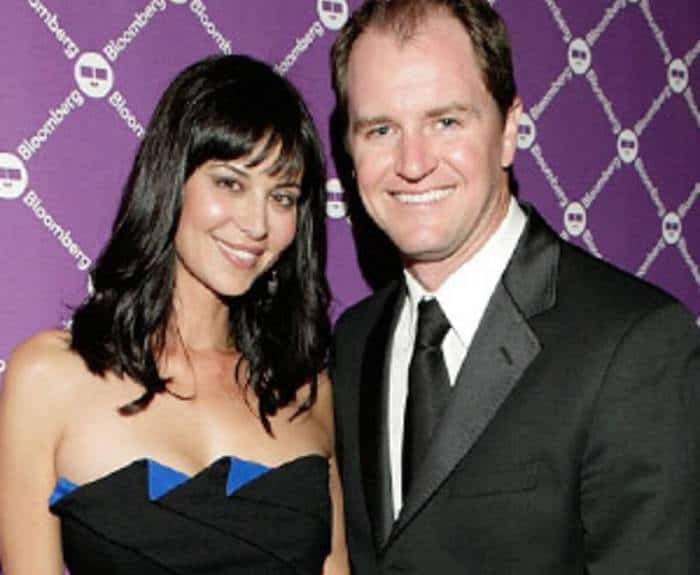 Catherine Bell with her ex-husband, Adam